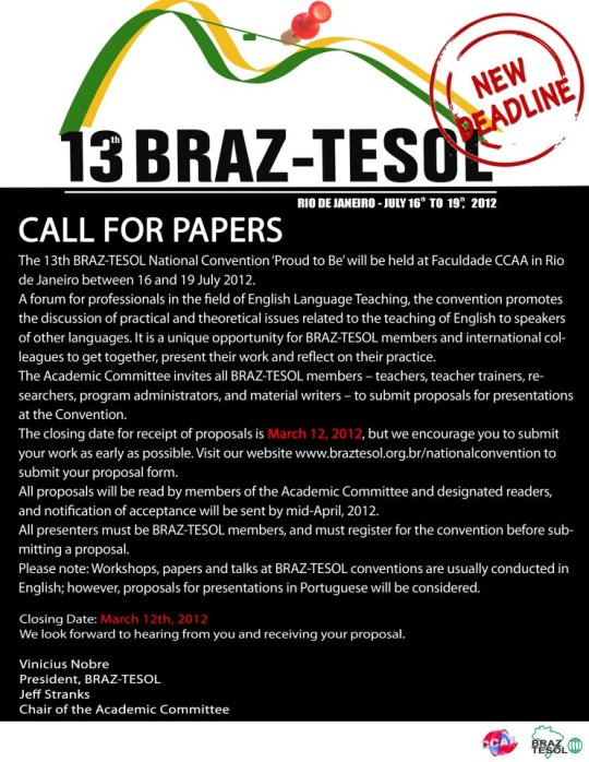 13th Braz-Tesol National Convention - Call for papers