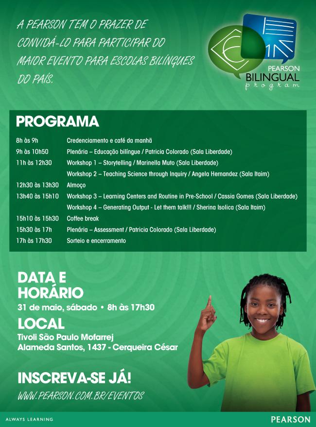 Evento da Pearson sobre educação bilíngue